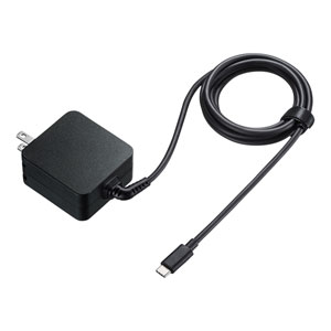 USB Power Delivery対応AC充電器(PD65W・TypeCケーブル一体型)