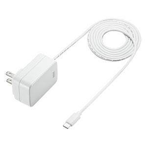 USB PD対応AC充電器(USB Type Cケーブル一体型・18W)