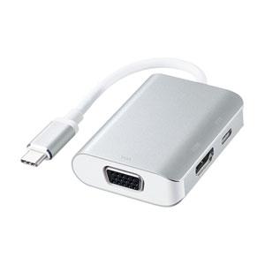 USB Type C-HDMI/VGA変換アダプタ