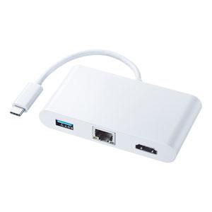 USB Type C-HDMIマルチ変換アダプタ with LAN