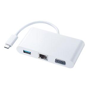USB Type C-VGAマルチ変換アダプタ with LAN