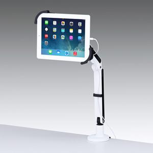 7~11インチ対応iPad・タブレット用アーム(クランプ式・2本アーム)