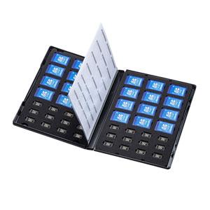 SDカード24枚、microSDカード24枚を収納できる、管理・保存に便利なDVDトールケースタイプの収納ケースを発売