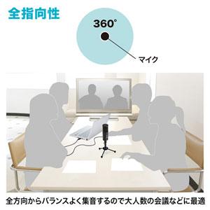 使用例 全方向からバランスよく集音するので大人数の会議などに最適