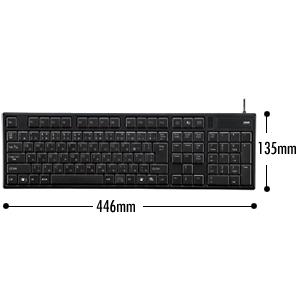 USBスリムキーボード(ブラック) SKB-SL11BK - 仕様