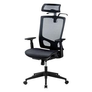 ヘッドレストが長時間の執務をサポート、ハンガー付きオフィスメッシュチェアを発売