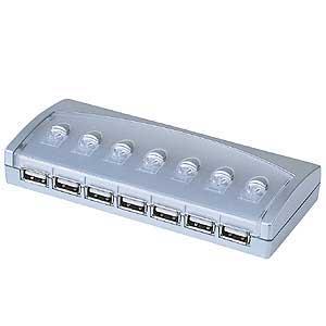 切替器付USBハブ(7ポート) USB-HUBSW71 - サンワサプライ