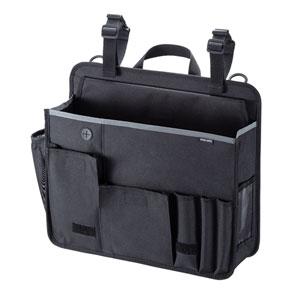台車のハンドルに取り付けて工具や文房具など様々な物を収納できる8ポケット搭載バッグを発売